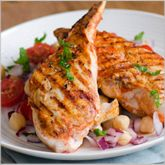 Grilled honey cumin chicken. Just 184 calories! Click for the recipe.