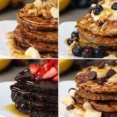 Healthy Pancakes 4 Ways