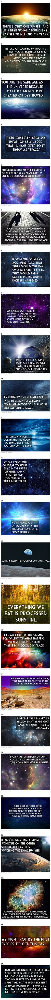 24 Fascinating Thoughts About the Universe