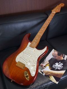 Fender Custom Shop FlameTop Stratocaster Flame AAA Caramelized Neck/AAA Flame KoaTop TigerEyeBurst Built By Paul Waller