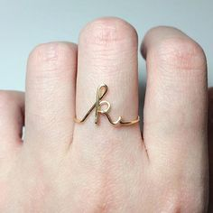 Custom Initial Ring sterling silver letter ring/gold fill initial ring/stack rings/name ring/personalized bridesmaid gift/wedding jewelry Initial Earrings, Initial Bracelet, Anillo Harry Potter, Sterling Silver Rings, Gold Rings, Silver Jewelry, Gold Jewellery, Name Rings Silver, Mirror Jewellery
