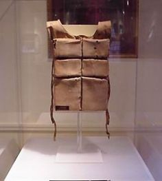 The life vest of Madeline Astor, wife of Jacob Astor who lost his life while saving his wife and unborn child