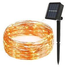 Vmanoo Solar Christmas Light, Solar Fairy String Lights, Waterproof, White