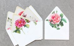{at the office | stationery inspiration : floral envelope liners} by {this is glamorous}, via Flickr