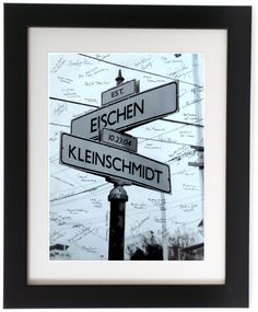 Unique Wedding Guestbook Alternative Personalized Street Sign with Last Names Wedding Date