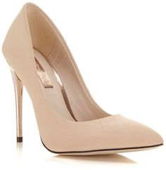 Miss Selfridge Glam nude gold heel on shopstyle.co.uk