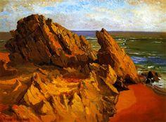 The Athenaeum - Rocks and Surf (Franz Bischoff - )