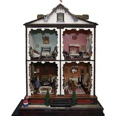 Large Mystery Doll House C 1890, looks interesting. .....Rick Maccione-Dollhouse Builder www.dollhousemansions.com