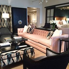 Amazing Arianne Bellizaire Inspired To Style Design Trends HPMKT High Point Market  Color Pink Blush Elite Furniture
