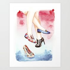 """Oh those shoes"" print by Shinie design"