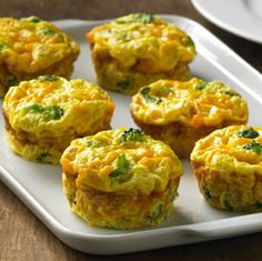 Crustless Veggie Mini Quiches- These are great. Reheat very good in the microwave. Can add most vegetables and meat if desired.