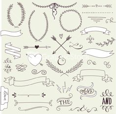 Download Wedding Graphic Set Stock Image and other stock images, photos, icons, vectors, backgrounds, textures and more.
