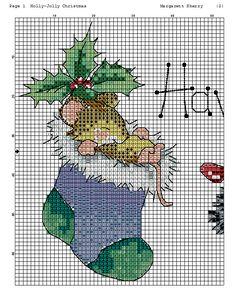 Santa Cross Stitch, Cross Stitch Bookmarks, Cross Stitch Cards, Cross Stitch Borders, Counted Cross Stitch Patterns, Cross Stitch Designs, Cross Stitching, Cross Stitch Embroidery, Christmas Cross