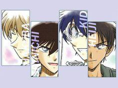 The boys : Hakuba, Shinichi, Kaitou Kid, Heiji (Detective Conan)