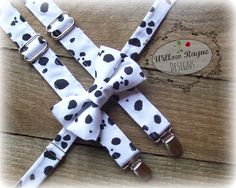 Boys Black and White Animal Print Suspenders by WillowRayneDesigns, $32.95