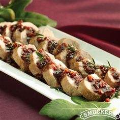 Medallions of Pork with Blackberry Fig Glaze from Smucker's®