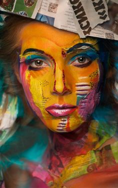 Insane Makeup Turns Models Into 2-D Paintings Of Famous Artists | Co.Design | business + design