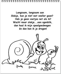 * Langzaam, langzaam aan... Chant, Teacher, Kids, Nursery Rhymes, Snails, Insects, Spiders, October, Children