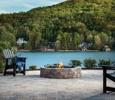 The Weston Stone® Fire Pit will instantly become everyone's favorite gathering spot. Outdoor Pavers, Outdoor Fire, Outdoor Living, Outdoor Decor, Stone Fire Pit Kit, Fire Pits, Fire Pit Backyard, Backyard Patio, Fire Pit Designs