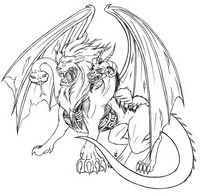 Adult coloring page Chimaera
