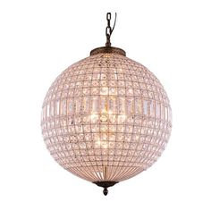 Elegant Lighting Olivia French Gold Five Light Pendant With Royal Cut Clear Crystals