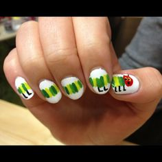 Trophy Wife Nail Art - The Very Hungry Caterpillar