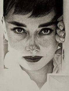 Audrey Hepburn by selimiles #audreyhepburn #actress #hollywood #icon #star #breakfastattiffanys #breakfast #tiffanys #american #leadinglady #art #artwork #portrait #digitalprint #forsale