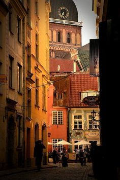 Amazing Old Town of Riga, Latvia.
