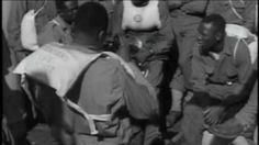World War II- The Beaches at Normandy - YouTube - The men of the 320th Barrage Balloon Battalion landed on Omaha and Utah Beaches, in Normandy on D-Day, June 6, 1944 and became the first black Soldiers to see combat in the European theatre. Their mission was to prevent the Luftwaffe from strafing the invasion force by launching huge dirigibles.