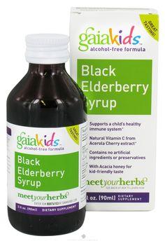 Buy Gaia Herbs - GaiaKids Black Elderberry Syrup - 3 oz. at LuckyVitamin.com