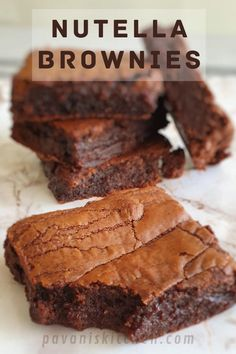 Easy Nutella Brownies, Nutella Snacks, Nutella Cupcakes, How To Make Brownies, Nutella Cheesecake, Nutella Cookies, Fudgy Brownies, Brownie Recipes, Cookie Recipes