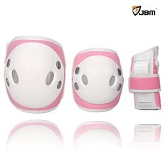 Kids' Cycling Protective Gear - JBM Child Kids Bike Cycling Bicycle Riding Protective Gear Set Knee and Elbow Pads with Wrist Guards Multisports Rollerblading Skating Volleyball Basketball BMX Denim Pink Childkids -- Continue to the product at the image link.