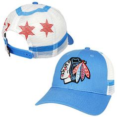 Get this Chicago Blackhawks Chicago Flag Screen Play Trucker Adjustable Cap at ChicagoTeamStore.com