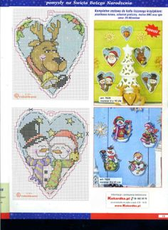 Heart Shape Christmas ornaments, plastic canvas, charts. page 3/3