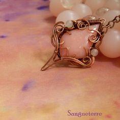 Rossa * romantic necklace * wirewrapping * wirewrapped * jewelry * copper * romantic * fantasy * fairy * elf * victorian * art nouveau * handmade