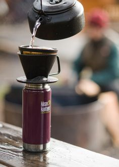 The 16oz Klean Kanteen Insulated in Deep Purple.