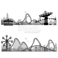 rollercoaster silhouettes - Google Search
