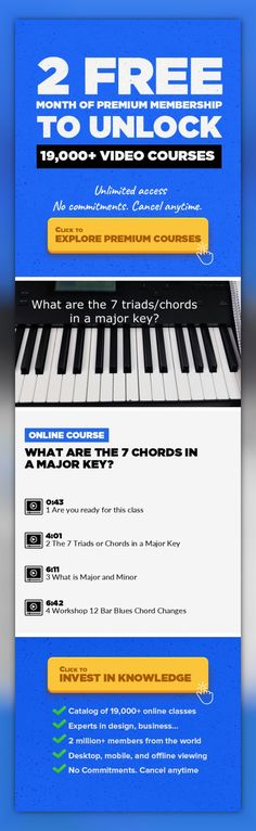 """What are the 7 Chords in a Major Key? Music Production, Creative #onlinecourses #onlinebusinesstips #onlinetraininglink   This is class 2 of """"Music Theory and Harmony for Producers, Composers, and Artists""""   In the class you will learn; What are the 7 chords in a major key? What is major and minor?"""