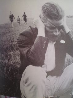 Love this image of James Joyce, South of France, 1922. He was losing his sight at this time. You can feel the emotional pain in this dramatic image.