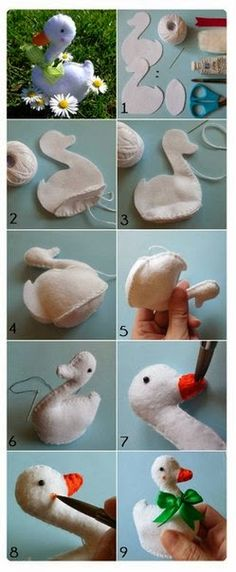 Pandahall provides craft ideas for making handmade jewelries. You can get the amazing craft idea when you buy the materials Felt Diy, Felt Crafts, Fabric Crafts, Sewing Toys, Sewing Crafts, Sewing Projects, Fabric Birds, Felt Fabric, Diy Ostern