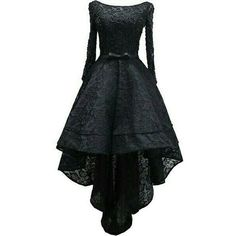Black lace high long sleeved dress