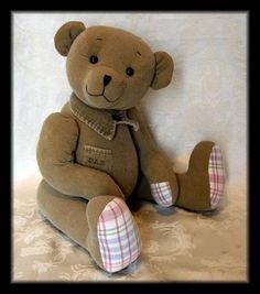 Memory bears made from outfits belonging to the deceased... a special gift for loved ones...