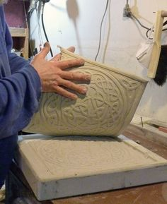 Making a ceramic relief tile, then making a master mold of it with plaster. Great pics and instruction! should do this with the precious symbols Ceramic Tools, Ceramic Clay, Ceramic Pottery, Pottery Art, Ceramic Tile Art, Pottery Shop, Art Tiles, Tile Murals, Ceramic Techniques