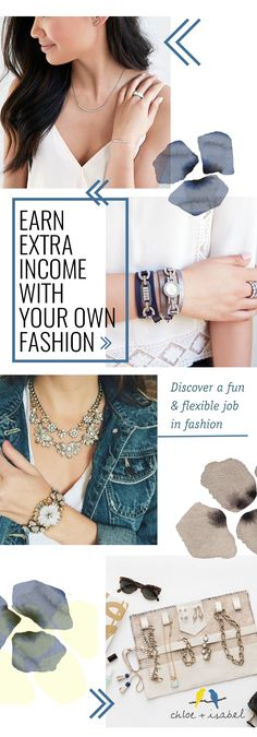 Looking for a career in fashion? Become a Chloe + Isabel merchandiser and fulfill your passion for fashion. As a merchandiser, your job is to style and inspire women with Chloe + Isabel's designer-quality jewelry. Set your own hours, your own schedule, and your own personal goals along the way. Build your resume and become a Chloe + Isabel Merchandiser today.