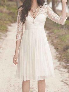 Empire Waist Lace Dress   25 Dreamy Reception Dresses Under $150