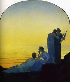 Alphonse Osbert - Ancient Evening, 1908