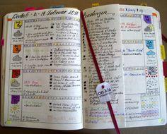 Bullet Journal weekly spread Woche 06