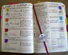 Bullet Journal weekly spread Woche 06