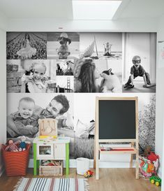 Black & White peel & stick gallery wall - SnapBox Prints