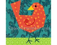 Birdie Bird quilt block, paper pieced quilt patterns, instant download PDF pattern, bird quilt pattern, animal patterns, easy quilt patterns...